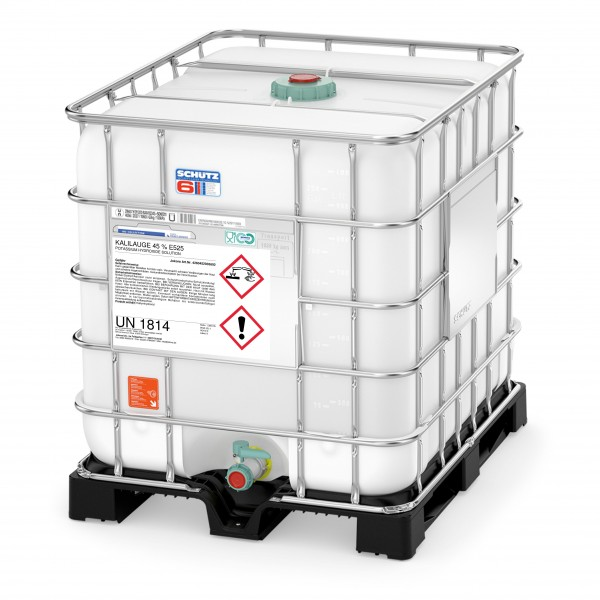 Kalilauge 45% E525 (1300kg IBC Container)