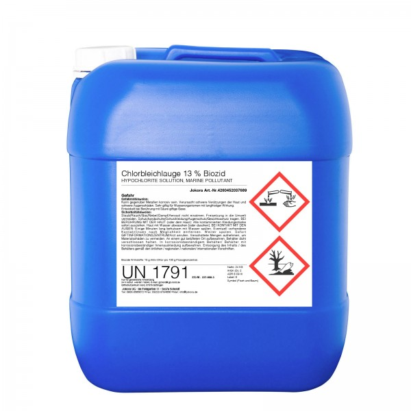Chlorbleichlauge 13% Biozid (24 x 24Kg Kanister)